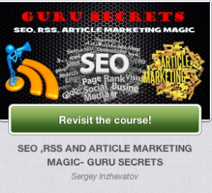 SEO, RSS And Article Marketing Guru - Guru Secrets